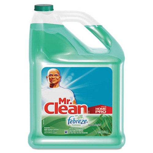 Mr. Clean Multipurpose Cleaning Solution with Febreze  128 oz Bottle  Meadows   Rain Scent (PAG23124)