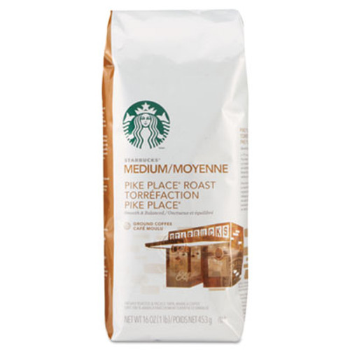 Starbucks Coffee, Pike Place, Ground, 1lb Bag (SBK11018186)