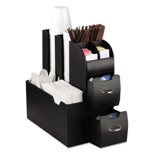 Mind Reader Coffee Condiment Caddy Organizer, 5 2/5 x 11 x 12 3/5, Black (EMSCAD01BLK)
