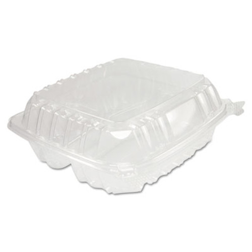 Dart ClearSeal Hinged-Lid Plastic Containers, 8 1/4 x 3 x 8 1/4, Clear 125/PK 2 PK/CT (DCC C90PST3)