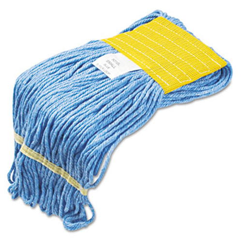 Boardwalk Super Loop Wet Mop Head  Cotton Synthetic Fiber  5  Headband  Small Size  Blue  12 Carton (UNS 501BLCT)