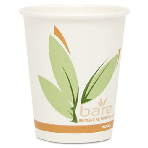 Dart Bare by Solo Eco-Forward Recycled Content PCF Paper Hot Cups  10 oz  1 000 Ct (SCC 370RC)