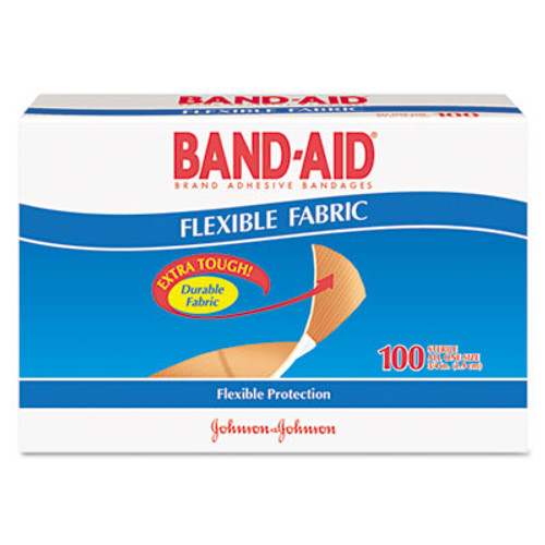 BAND-AID Flexible Fabric Premium Adhesive Bandages  3 4  x 3   100 Box (JON 4434)
