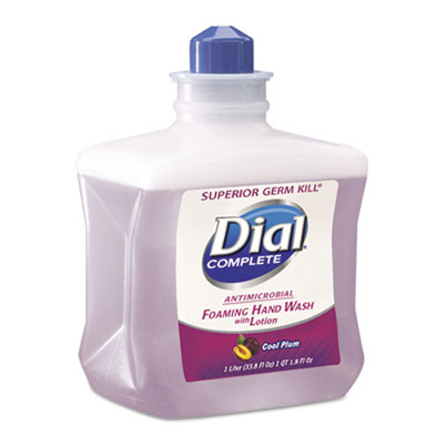 Dial Professional Antimicrobial Foaming Hand Wash  Cool Plum Scent  1000mL Bottle  4 Carton (DIA 81033CT)