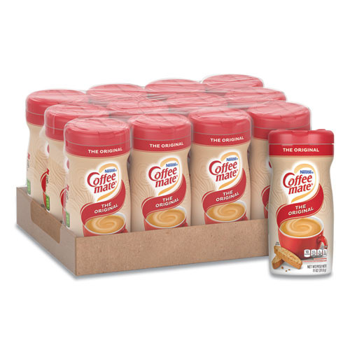Coffee mate Non-Dairy Powdered Creamer  Original  11 oz Canister  12 Carton (NES 55882CT)