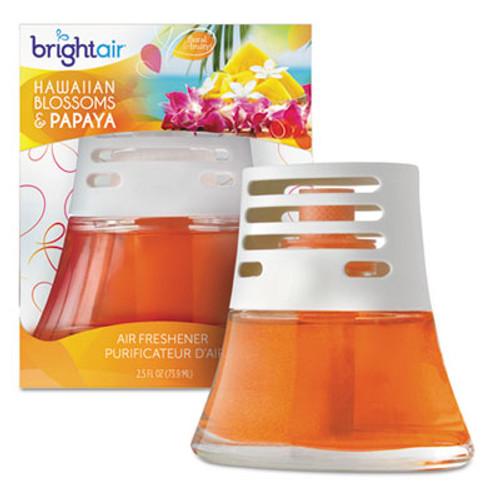 BRIGHT Air Scented Oil Air Freshener  Hawaiian Blossoms and Papaya  Orange  2 5 oz  6 Carton (BRI 900021CT)