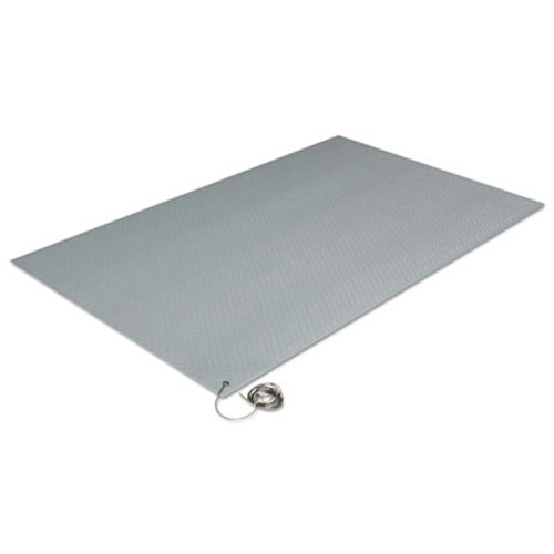 Crown Antistatic Comfort-King Mat, Sponge, 24 x 36, Steel Gray (CWNZC0023GY)