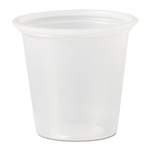 SOLO Cup Company Polystyrene Portion Cups, 1 1/4 oz, Translucent, 5000/Carton (DCC P125N)