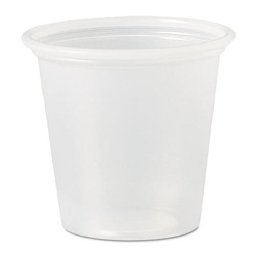 Dart Polystyrene Portion Cups  1 1 4 oz  Translucent  2500 Carton (DCC P125N)