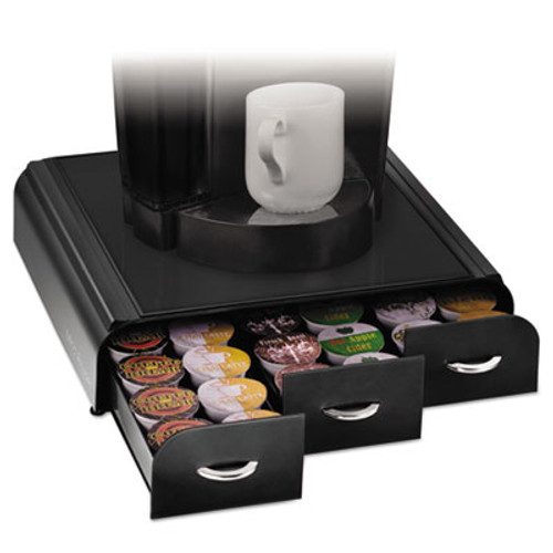 Mind Reader Anchor 36 Capacity Coffee Pod Drawer, 13 23/50 x 12 87/100 x 2 18/25 (EMSTRY01BLK)