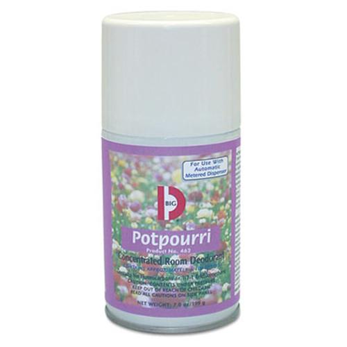Big D Industries Metered Concentrated Room Deodorant, Potpourri Scent, 7 oz Aerosol, 12/Carton (BGD 462)