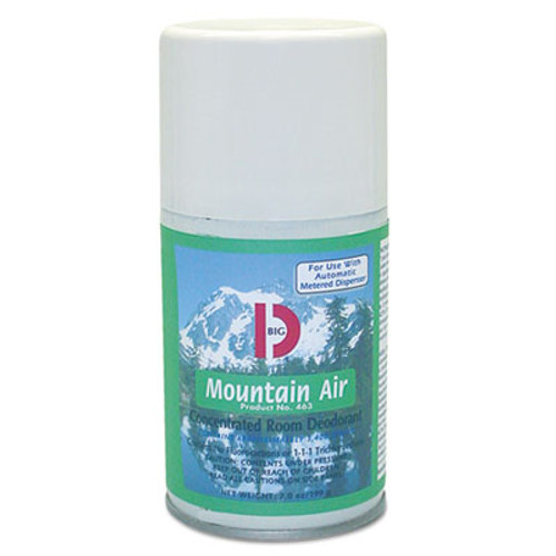 Big D Industries Metered Concentrated Room Deodorant  Mountain Air Scent  7 oz Aerosol  12 Carton (BGD 463)