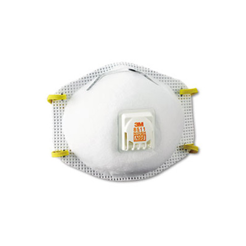 3M Particulate Respirator w Cool Flow Exhalation Valve  10 Masks Box (MMM8511)