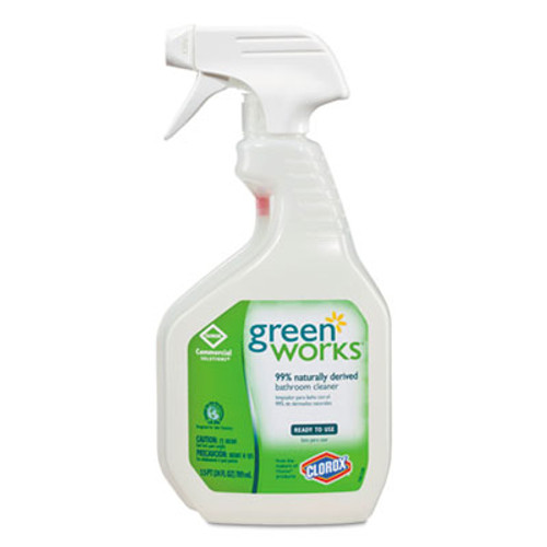Green Works Bathroom Cleaner  24 oz Spray Bottle  12 Carton (CLO 00452CT)