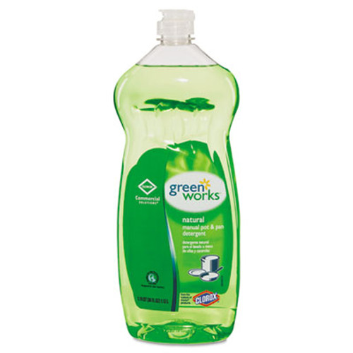 Green Works Manual Pot and Pan Dishwashing Liquid  38 oz Bottle  8 Carton (CLO 30381CT)