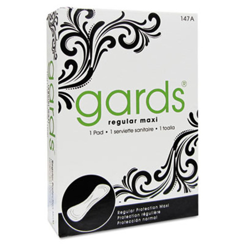 HOSPECO Gards Maxi Pads, #4, 250 Individually Boxed Napkins/Carton (HOS4147)