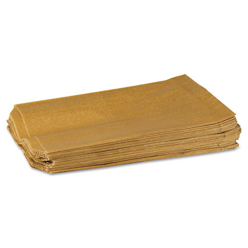 HOSPECO Napkin Receptacle Liners  7 5  x 3  x 10 5   Brown  500 Carton (HOS260)