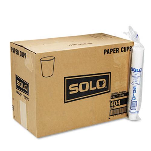 Dart White Paper Water Cups  4oz  100 Bag  50 Bags Carton (SCC404CT)