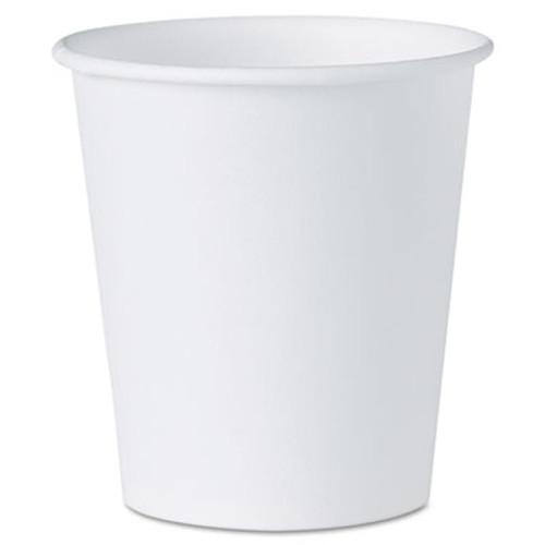 Dart White Paper Water Cups  3oz  100 Bag  50 Bags Carton (SCC44CT)