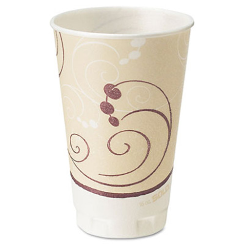 Dart Symphony Design Trophy Foam Hot Cold Drink Cups  16 oz  50 Pack  15 Packs Carton (SCCX16NJ8002)