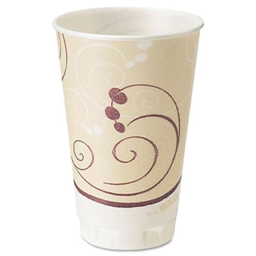 Dart Symphony Design Trophy Foam Hot Cold Drink Cups  16 oz  50 Pack  15 Packs Carton (SCCX16NJ8002)