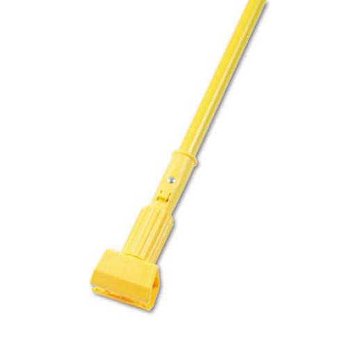 Boardwalk Plastic Jaws Mop Handle for 5 Wide Mop Heads  60  Aluminum Handle  Yellow (BWK610)