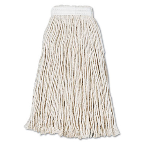 Boardwalk Cut-End Wet Mop Head, Cotton, No. 16, White, 12/Carton (UNS2016CCT)