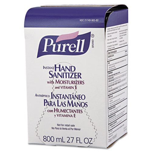 PURELL Advanced Hand Sanitizer Gel Refill  Bag-in-Box  800 ml  12 Carton (GOJ965712)