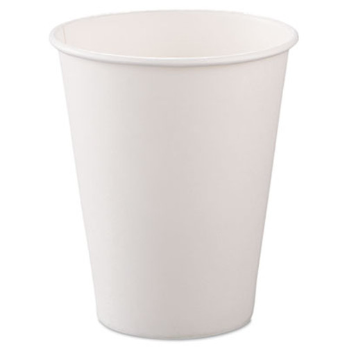 SOLO Cup Company Single-Sided Poly Paper Hot Cups, 8oz, White, 50/Bag, 20 Bags/Carton (SCC378W2050)