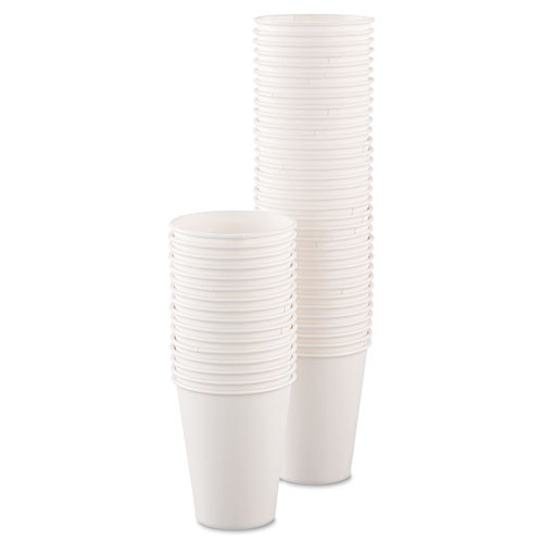 Dart Single-Sided Poly Paper Hot Cups  8oz  White  50 Bag  20 Bags Carton (SCC378W2050)