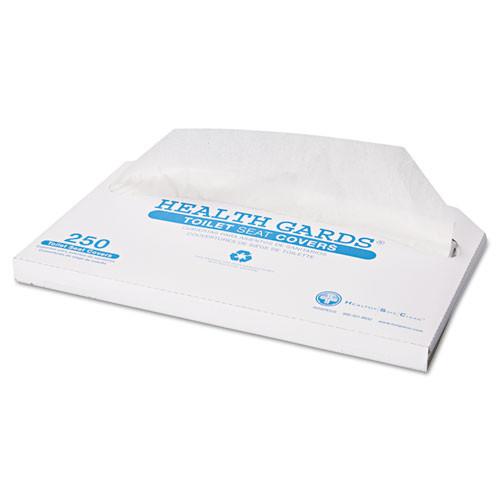 HOSPECO Health Gards Toilet Seat Covers  Half-Fold  White  250 Pack  10 Boxes Carton (HOSHG2500)