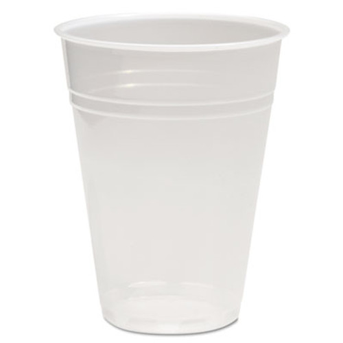 Boardwalk Translucent Plastic Cold Cups  9 oz  Polypropylene  25 Cups Sleeve  100 Sleeves Carton (BWKTRANSCUP9CT)