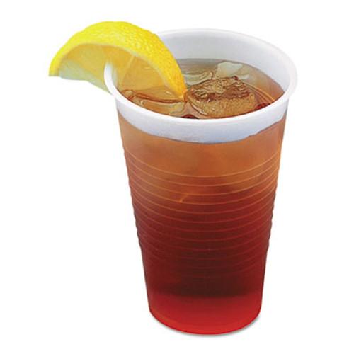 Boardwalk Translucent Plastic Cold Cups  5 oz  Polypropylene  25 Cups Sleeve  100 Sleeves Carton (BWKTRANSCUP5CT)