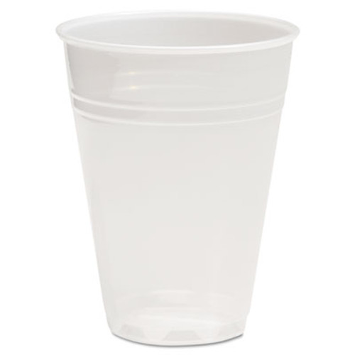 Boardwalk Translucent Plastic Cold Cups  7 oz  Polypropylene  25 Cups Sleeve  100 Sleeves Carton (BWKTRANSCUP7CT)