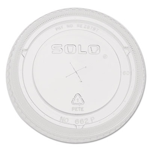 Dart Straw-Slot Cold Cup Lids  9oz-20oz Cups  Clear  100 Pack (DCC662TSCT)