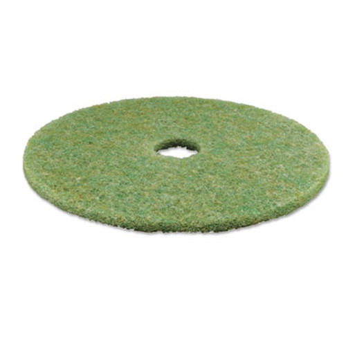 3M Low-Speed TopLine Autoscrubber Floor Pads 5000  20  Diameter  Green Amber  5 Carton (MMM18052)