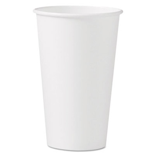 Dart Polycoated Hot Paper Cups  16 oz  White (SCC316W)