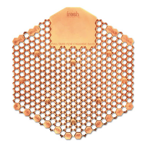 Fresh Products Wave 3D Urinal Deodorizer Screen  Orange  Mango Fragrance  10 Screens Box (FRS3WDS60MAN)