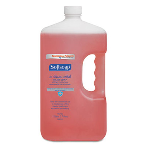 Softsoap Antibacterial Hand Soap, Crisp Clean, Pink, 1gal Bottle, 4/Carton (CPC01903CT)