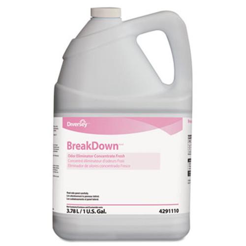 Diversey Breakdown Odor Eliminator  Fresh Scent  Liquid  1 gal Bottle (DVO94291110)