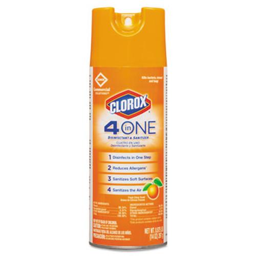 Clorox 4-in-One Disinfectant and Sanitizer  Citrus  14 oz Aerosol  12 Carton (CLO31043CT)