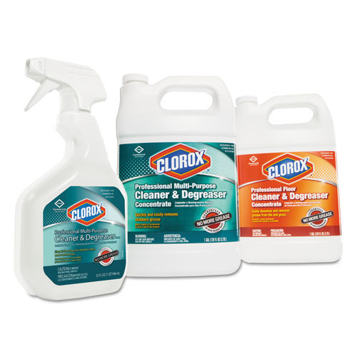 Clorox Professional Floor Cleaner and Degreaser Concentrate  1 gal Bottle  4 Carton (CLO30892CT)