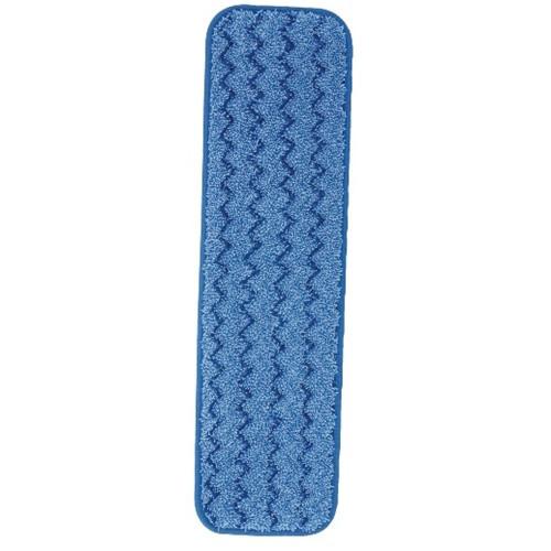 Rubbermaid Commercial Microfiber Wet Room Pads  24 in  Long  Split Nylon Polyester Blend  Blue (RCPQ411BLU)