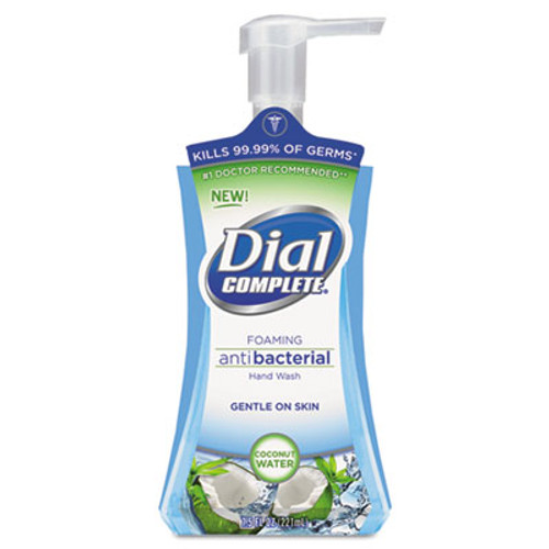 Dial Antibacterial Foaming Hand Wash  Coconut Waters  7 5 oz Pump Bottle  8 Carton (DIA09316CT)