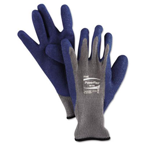 AnsellPro PowerFlex Gloves  Blue Gray  Size 10  1 Pair (ANS8010010PR)