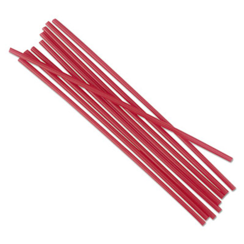 Boardwalk Single-Tube Stir-Straws  5 1 4   Red  1000 Pack  10 Carton (BWKSTRU525R10)