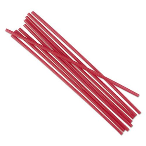 Boardwalk Single-Tube Stir-Straws  5 1 4   Red  1000 Pack  10 Carton (BWKSTRU525R10)