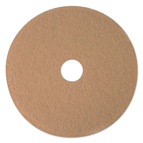 3M Ultra High-Speed Floor Burnishing Pads 3400  21  Diameter  Tan  5 Carton (MMM05607)