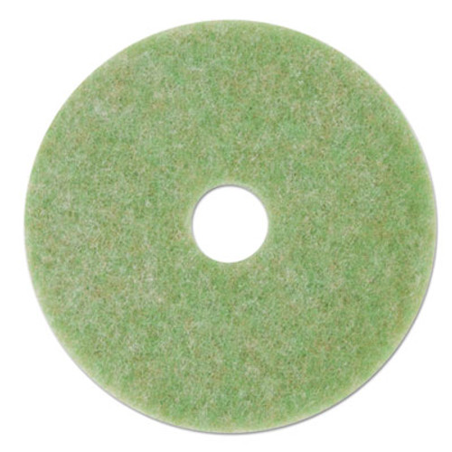 "3M Low-Speed TopLine Autoscrubber Floor Pads 5000, 12"", Sea Green, 5/Carton (MMM18044)"