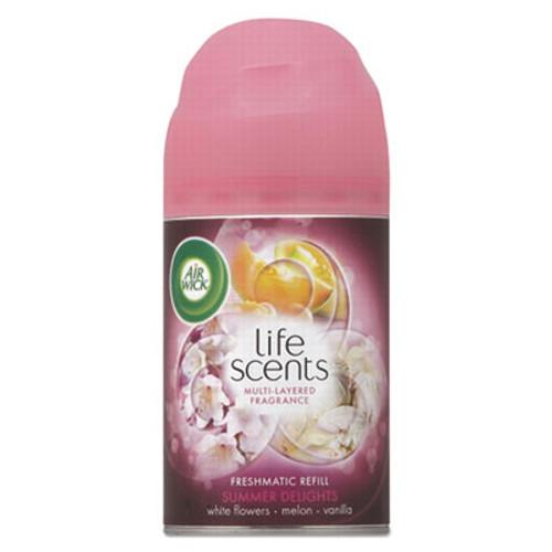 Air Wick Freshmatic Life Scents Ultra Refill, Summer Delights, 6.17 oz Aerosol, 6/Carton (RAC91101)